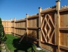 Gartenzaun / Sichtschutz aus Lärche