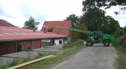 Dacheindeckung mit Wellplatten