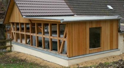Anbaucarport für ein Wohnmobil