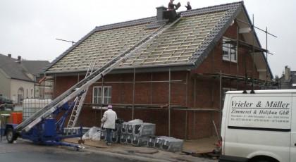 Dacheindeckung eines Neubaues