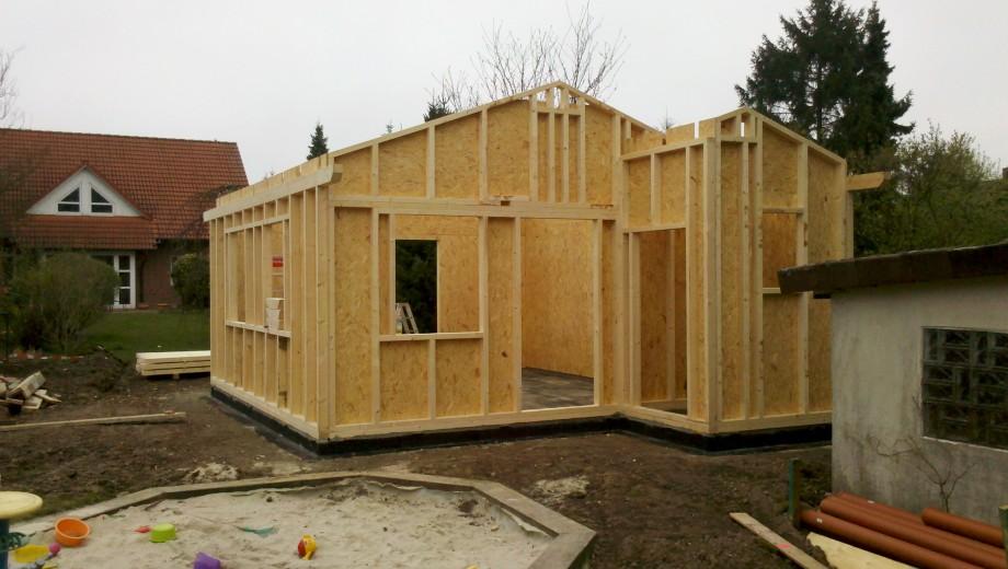 Gartenhaus in Holzrahmenbauweise